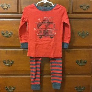 Old Navy Red/Navy Fire Truck Pajamas